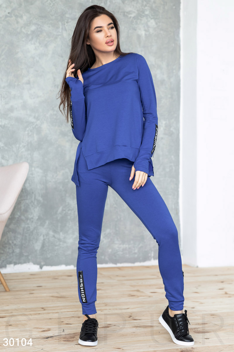 Knitted tracksuit Blue 30104