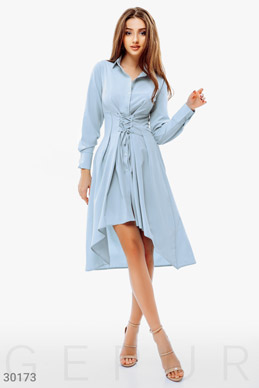 Платье-рубашка со шнуровкой фото 1