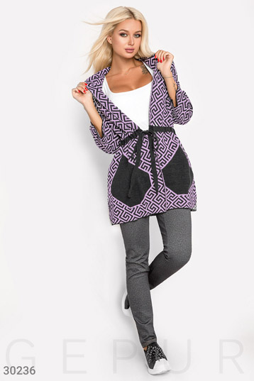 Asymmetric cardigan for women photo 1