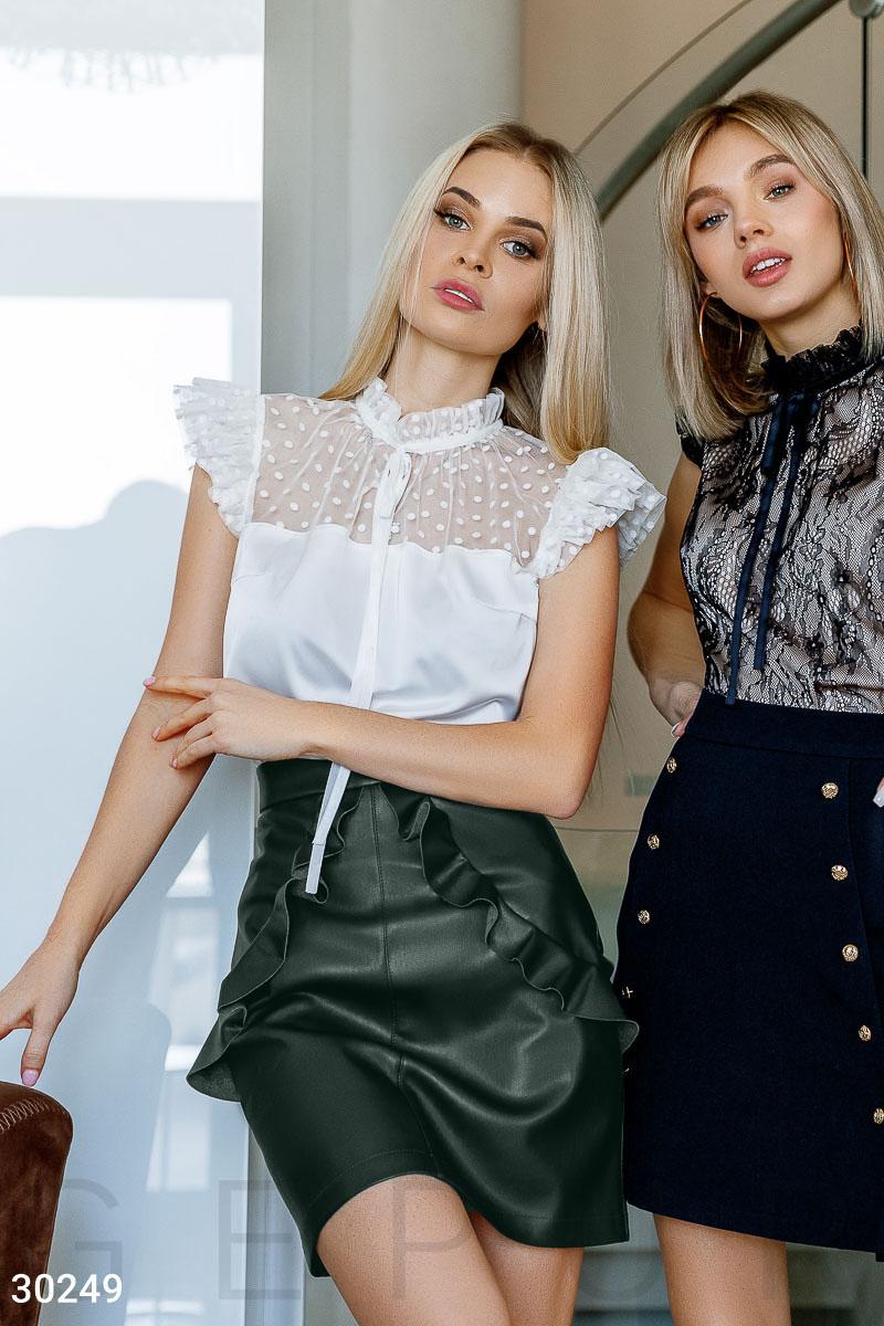 Легкая блуза из шелка