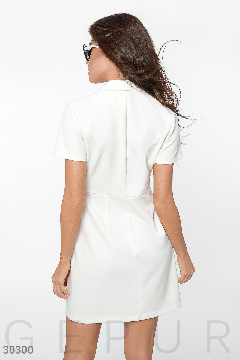 Double-breasted dress mini White 30300