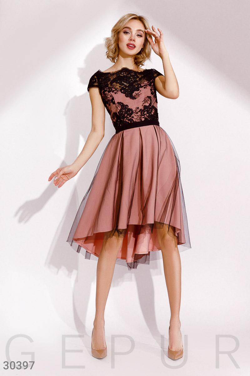 a8d2a09e385 Платье с контрастным кружевом - купить оптом и в розницу