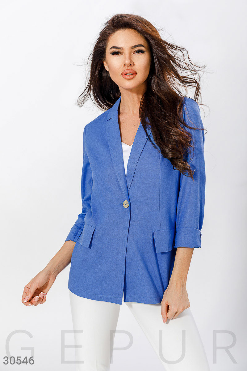 Single breasted classic jacket Blue 30546