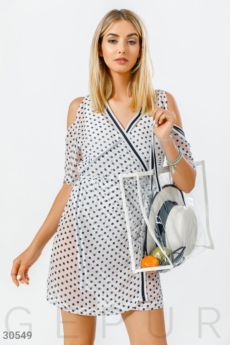 Пляжная туника с сумкой