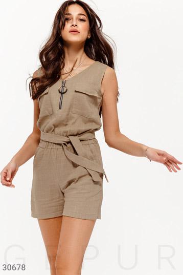 1f14abb3c854 Купить женские комбинезоны с шортами бежевого цвета по низкой цене в ...