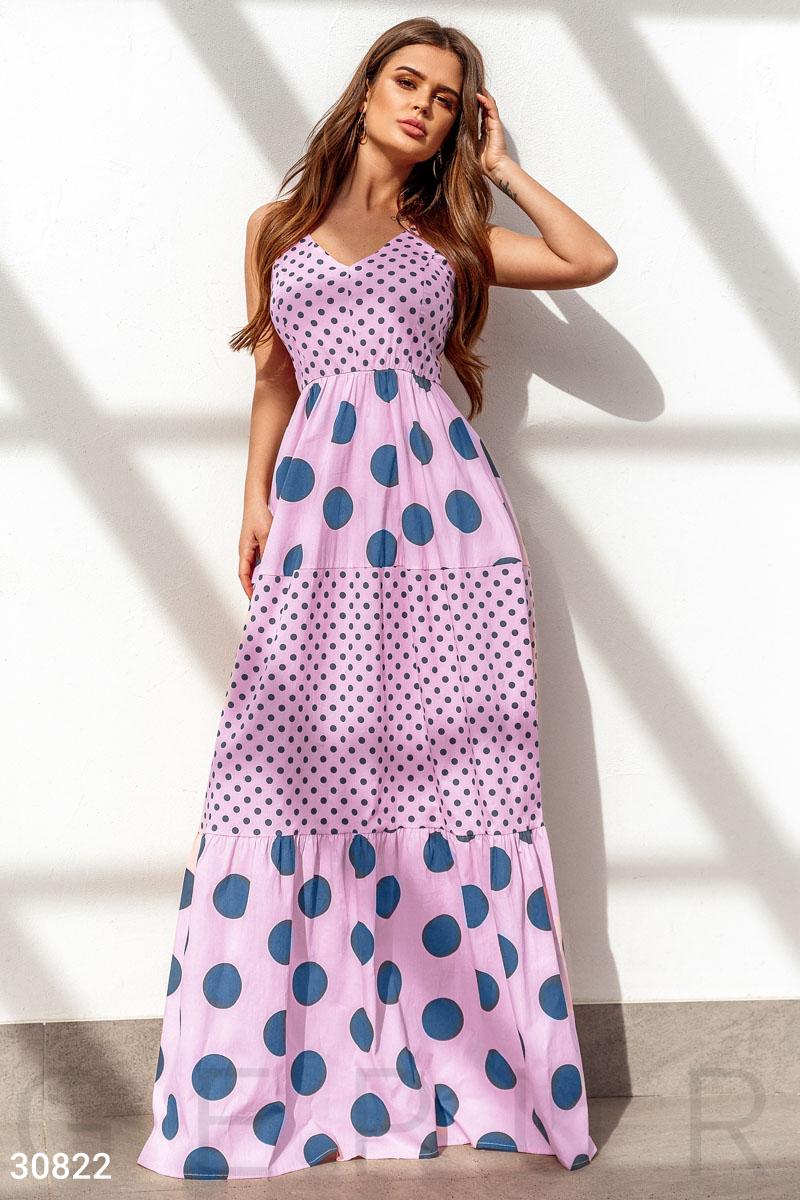 ddd67318f0c Длинное платье в горошек - купить оптом и в розницу