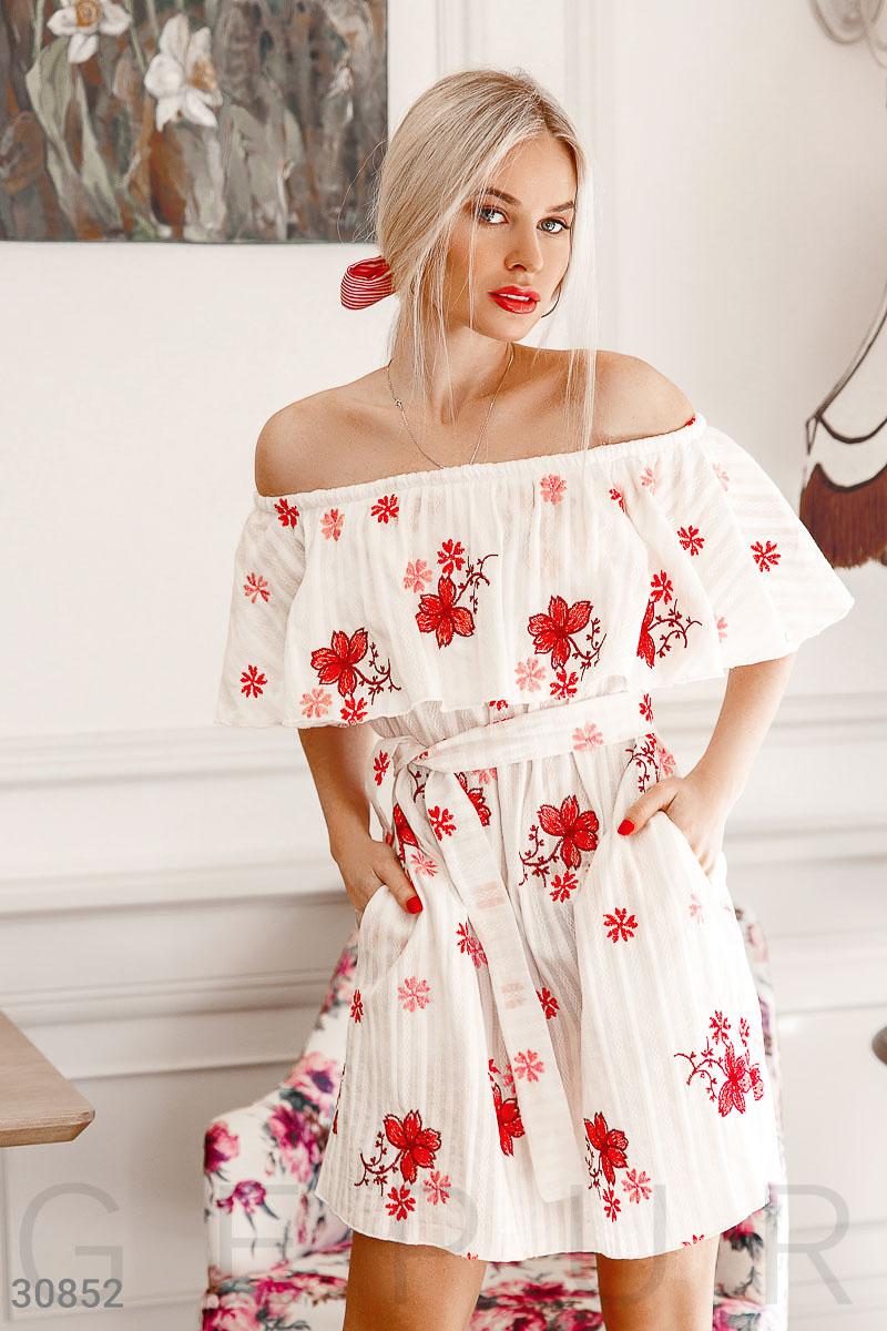 5c23ef59f8dc4fe Платье-мини с воланом - купить оптом и в розницу | GEPUR