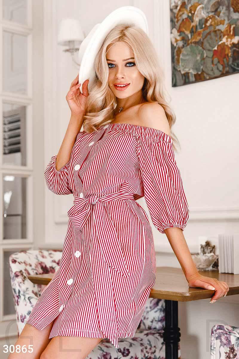 ad798ccffa9057 Смугасте плаття з поясом - купити оптом і уроздріб | GEPUR