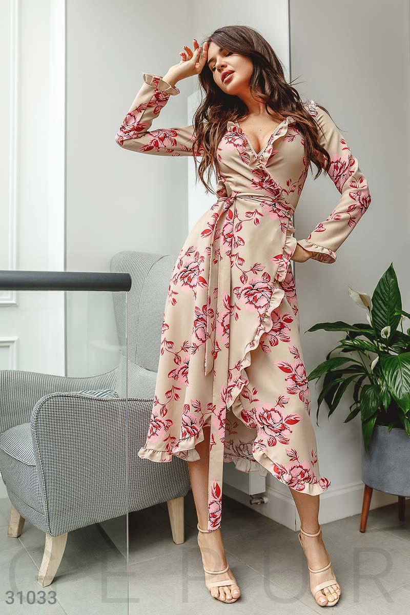c17b4fa515158b4 Цветочное платье с оборками - купить оптом и в розницу | GEPUR