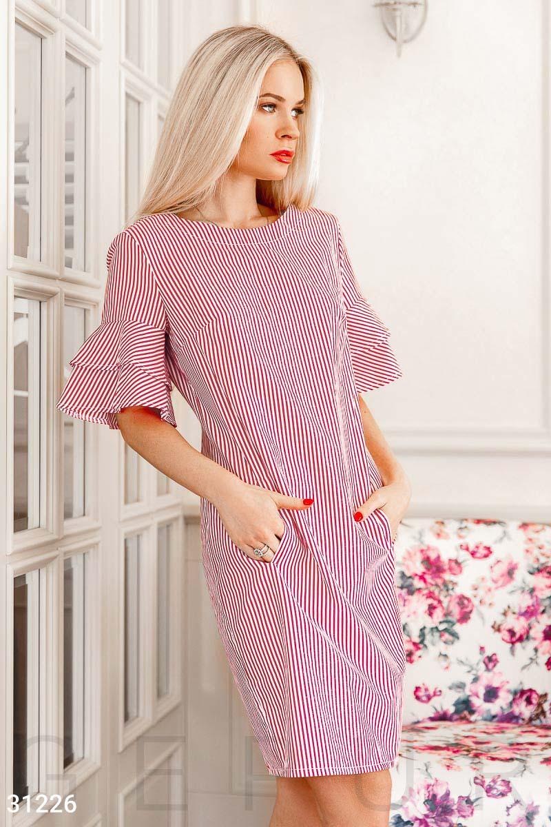 262610c1115 Платье в стильную полоску - купить оптом и в розницу