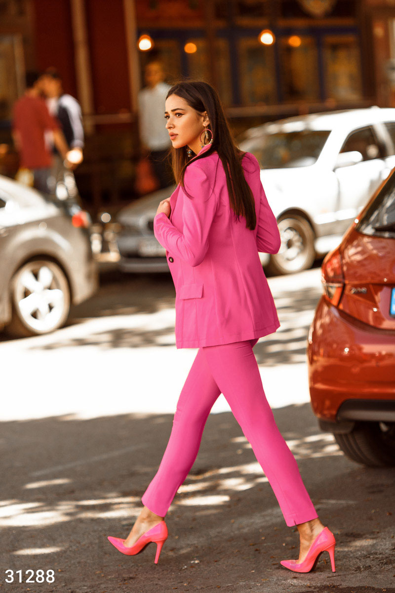 Elegant tapered trousers Pink 31288
