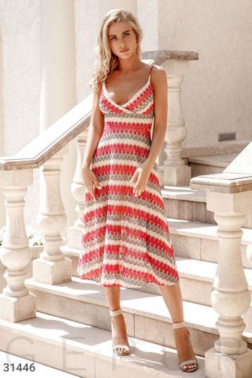 e495b1865e08f3e Платье-миди на запах,трикотаж миссони,цвет-малиновый. фото 0