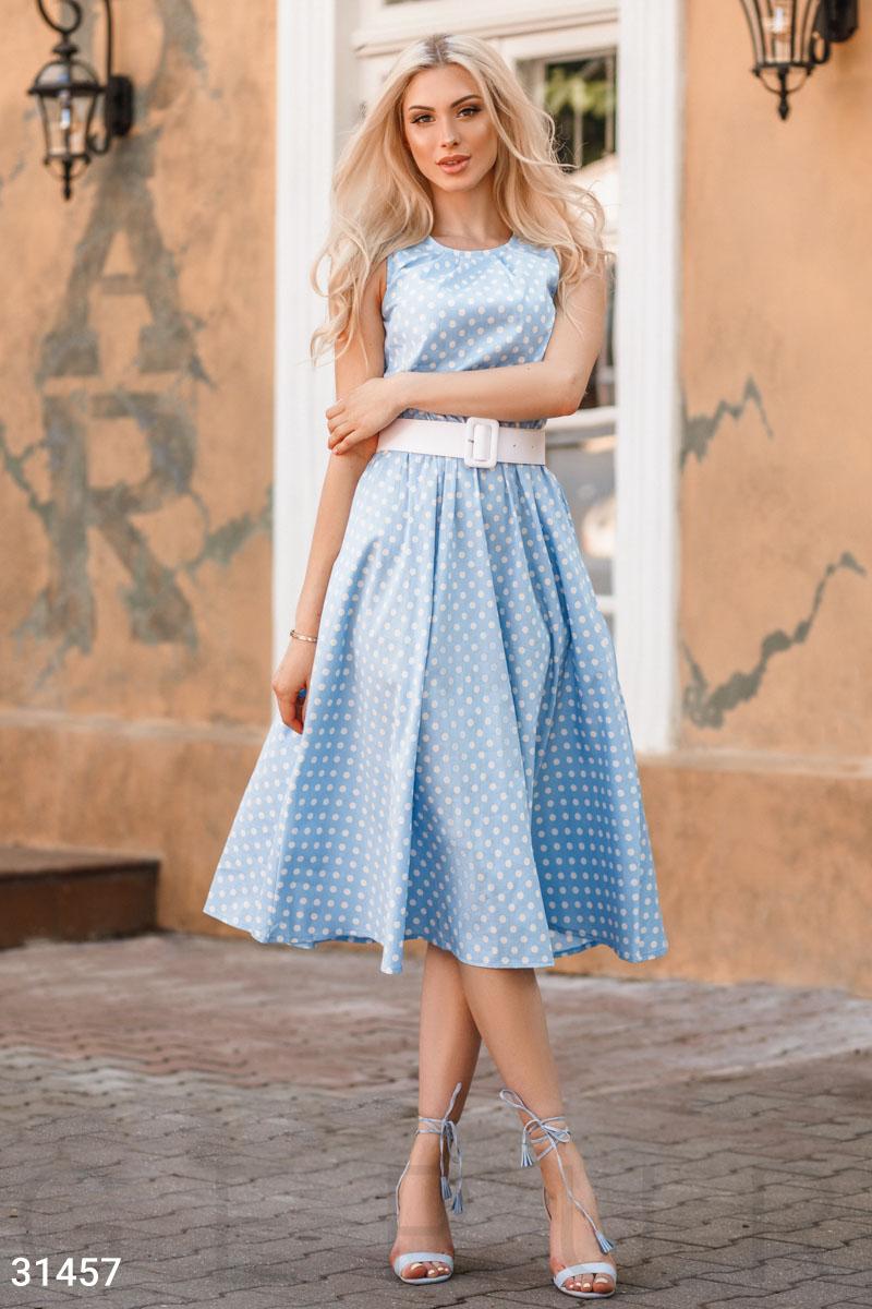 Легкое платье в горошек