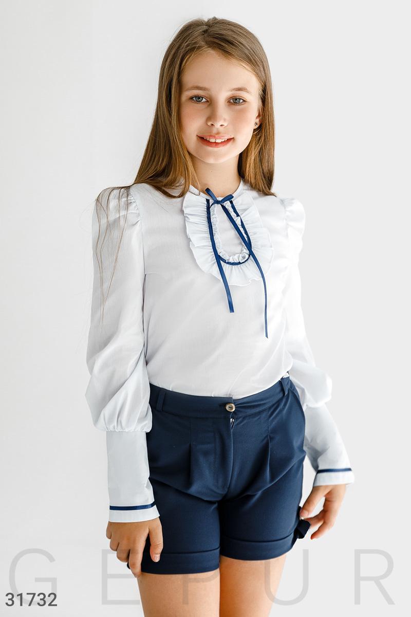 Блуза с атласной лентой