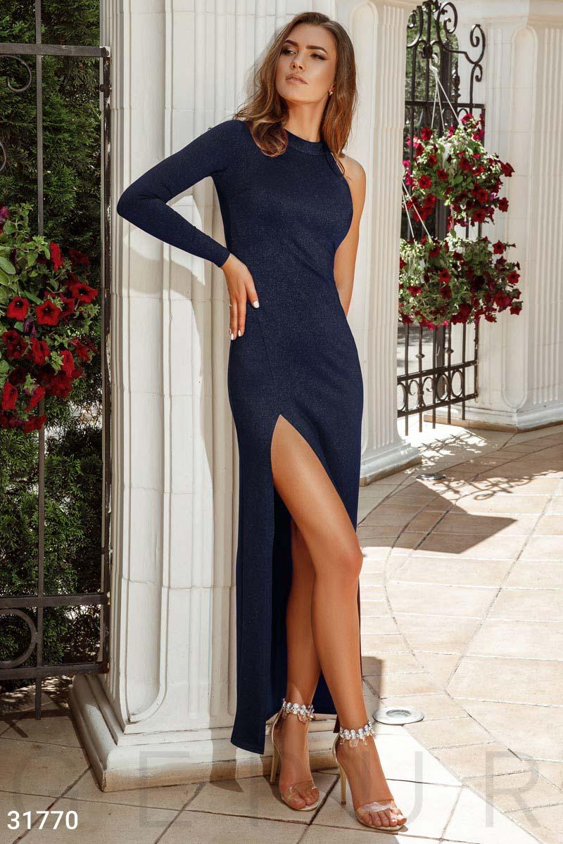 Асимметричное платье-макси