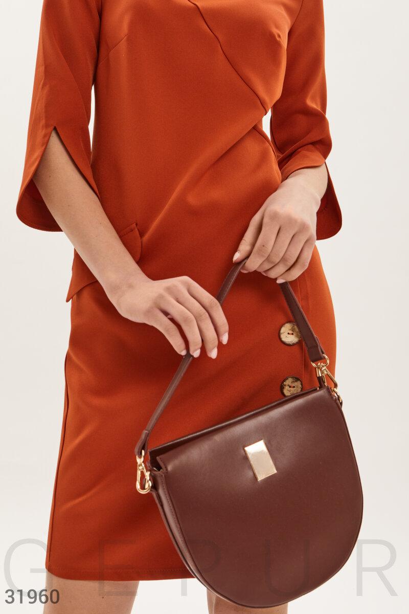 Деловая бордовая сумка