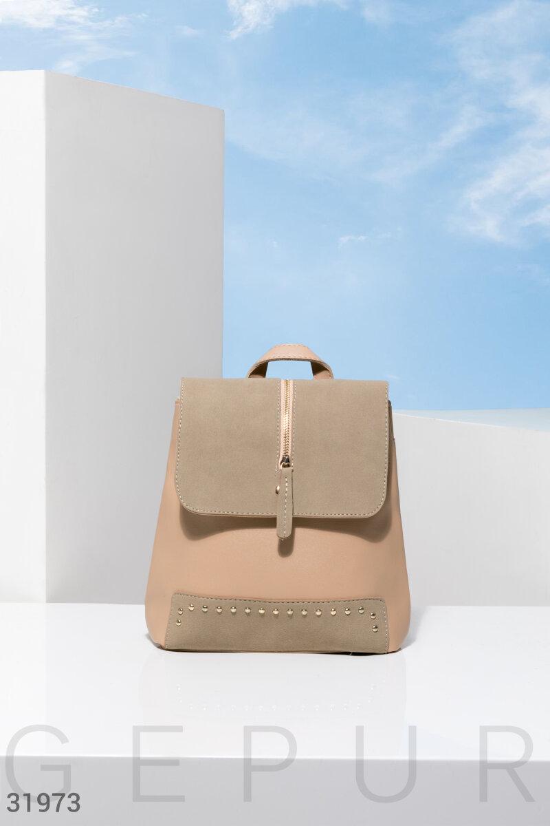 Аккуратный бежевый рюкзак
