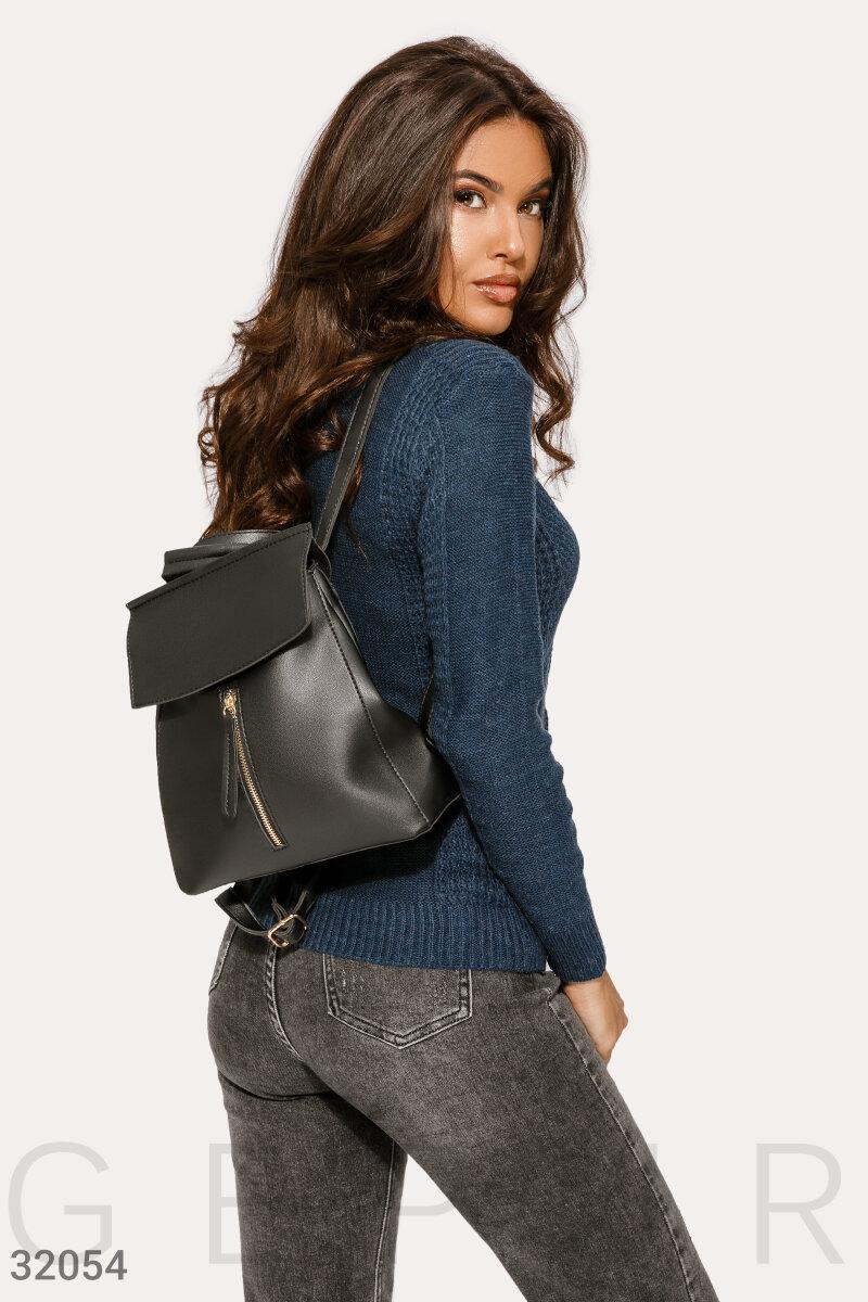 Городской черный рюкзак