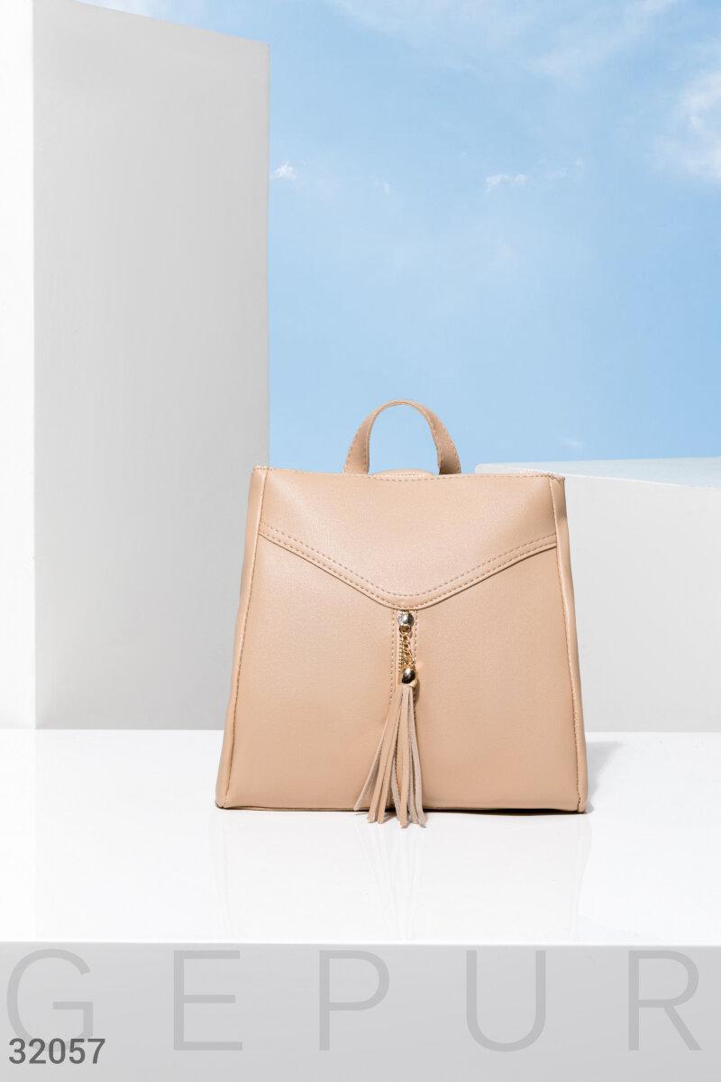 Бежевый маленький рюкзак