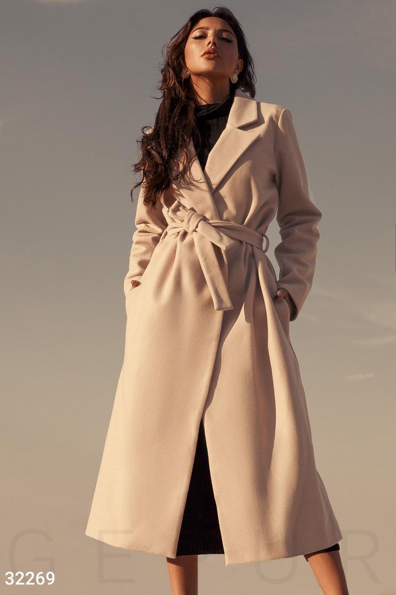 Кашемировое пальто-миди