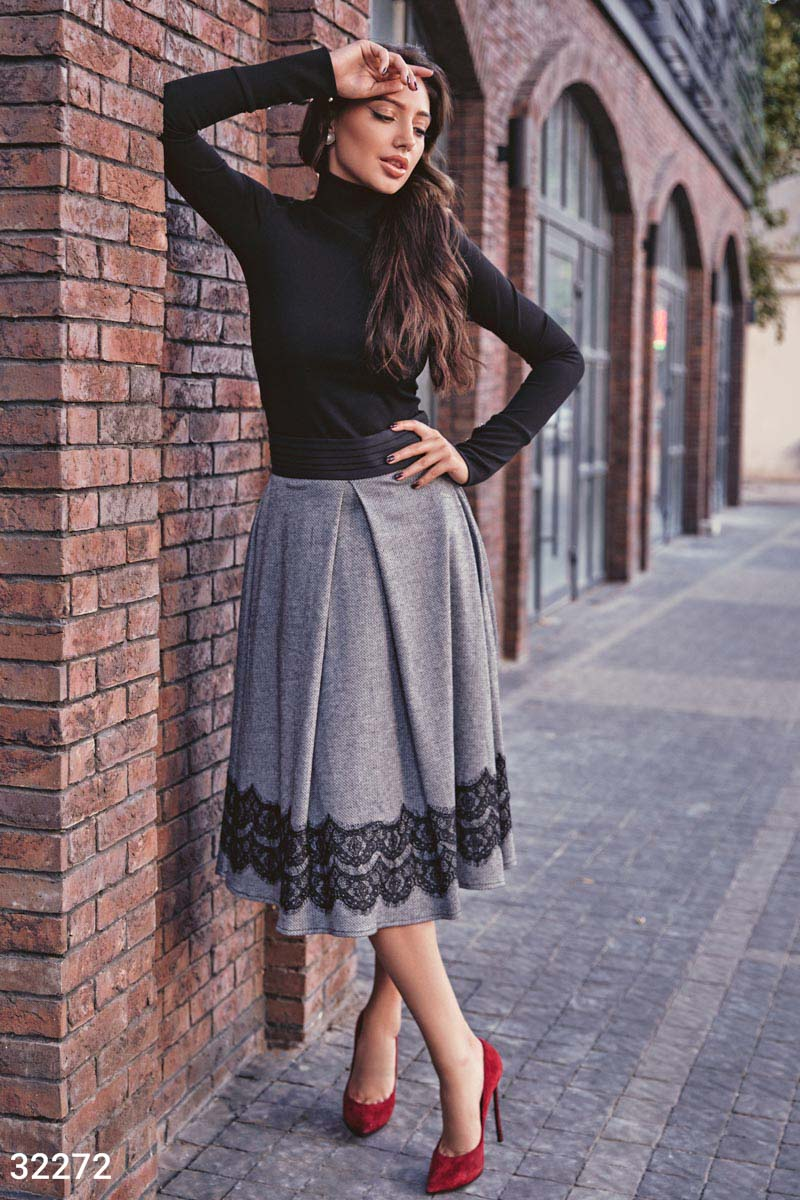 Классическая теплая юбка