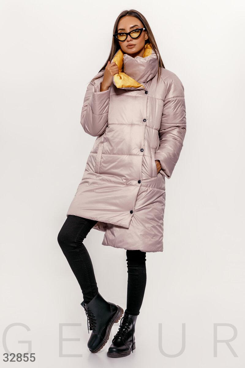 Бежевая удлиненная куртка