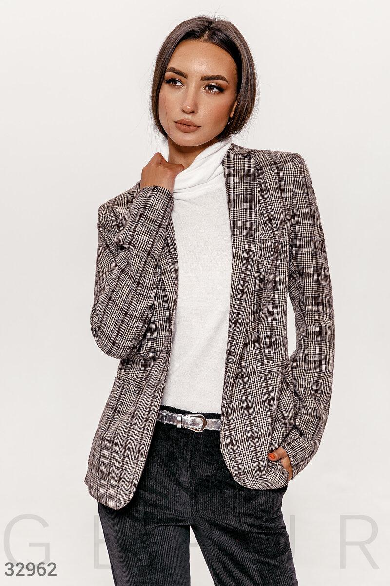 Классический пиджак в клетку