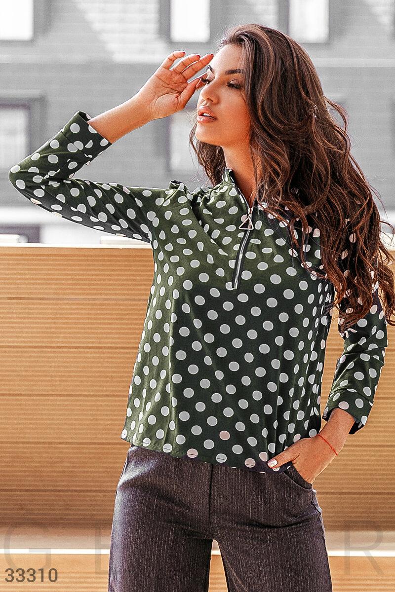 Блуза в гороховый принт
