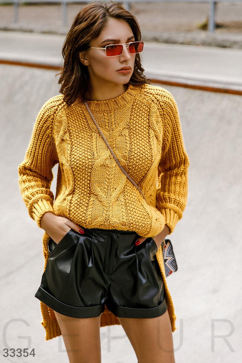 Кожаные стильные шорты