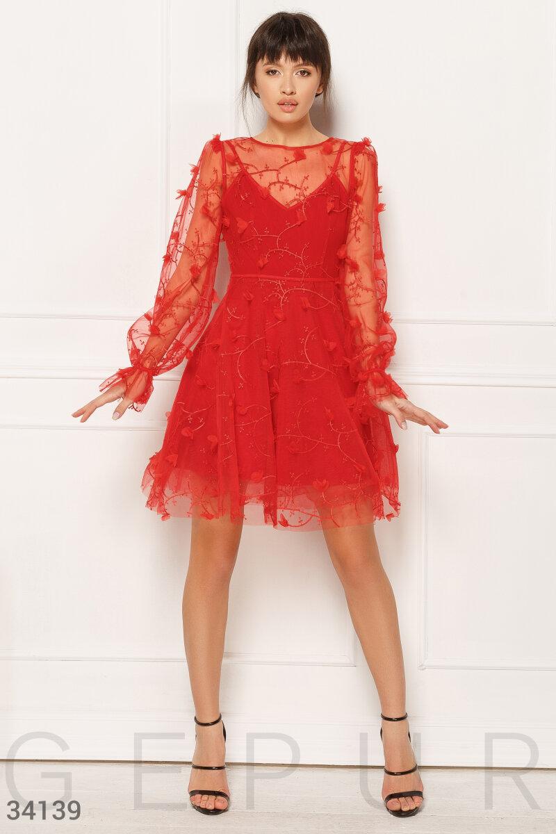 Алое платье Gepur