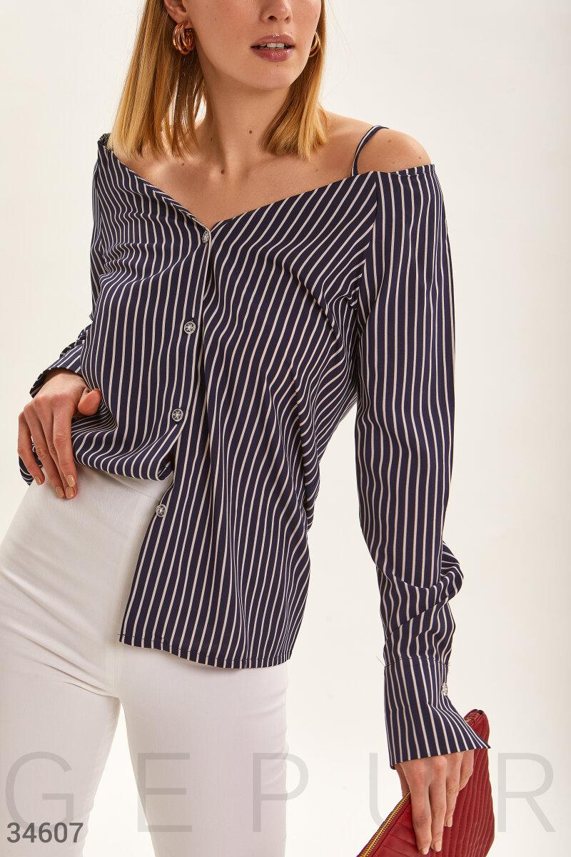 Блуза в полосатый принт