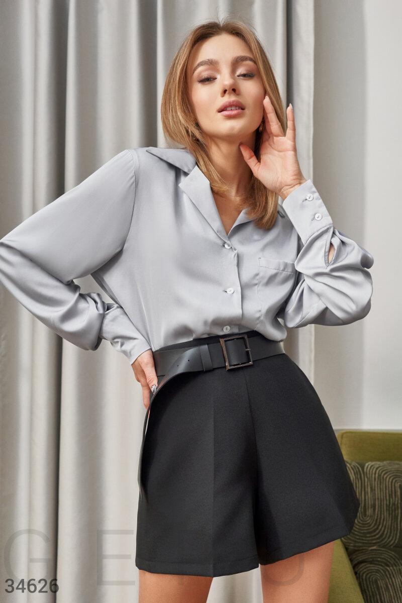 Блуза из струящегося атласа