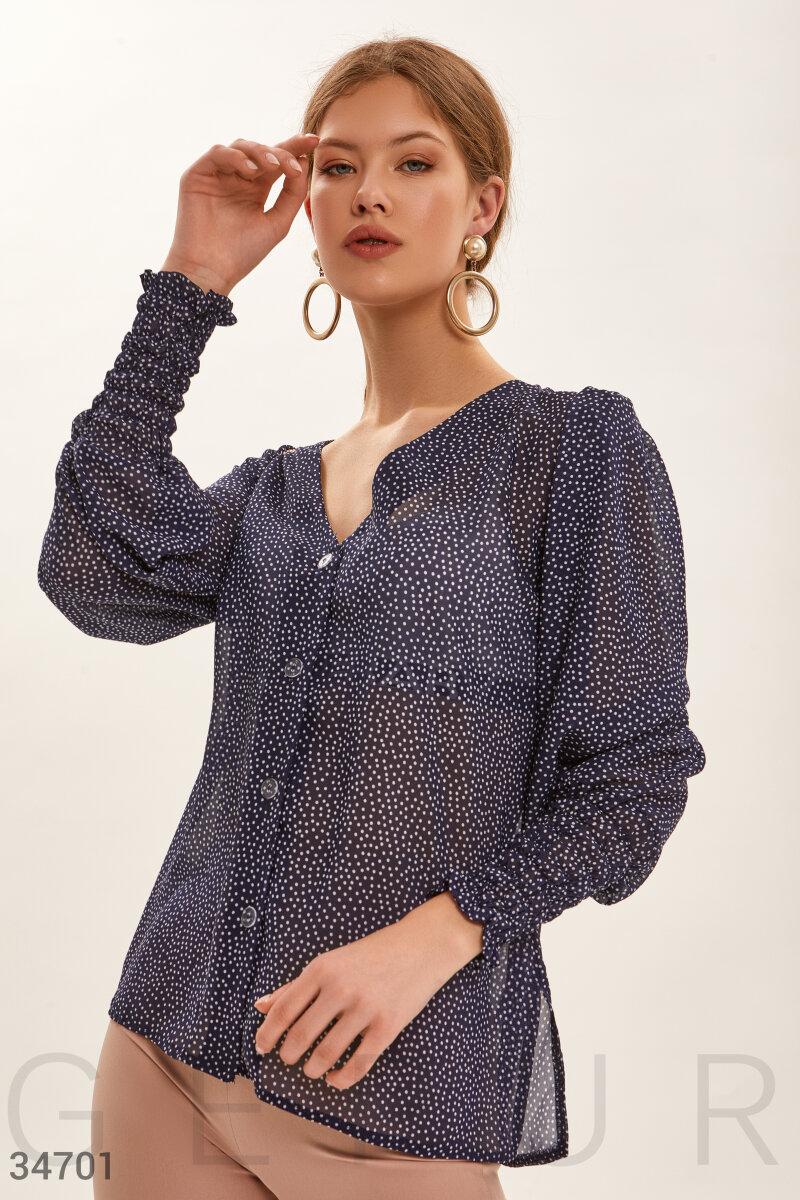 Блуза в утонченный горошек