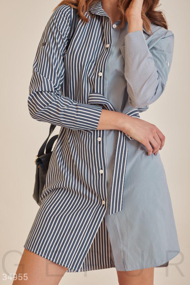 Платье в полосатый принт