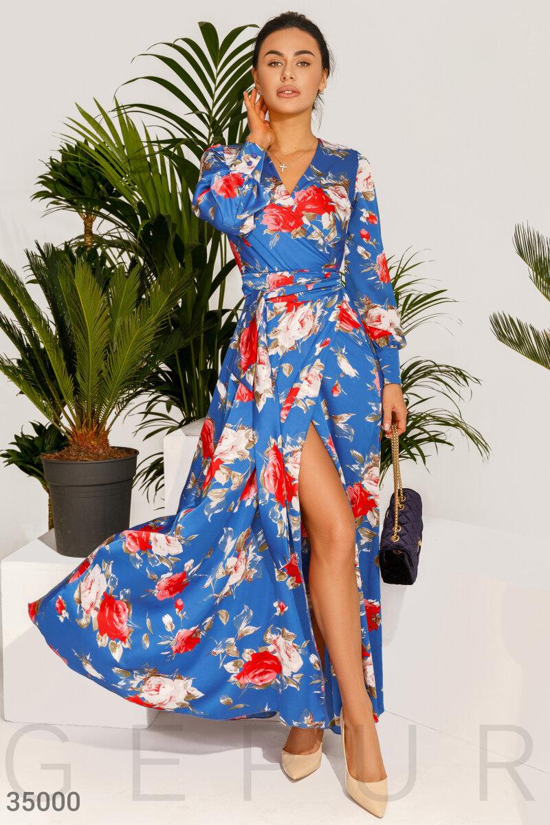 Шелковое платье-макси