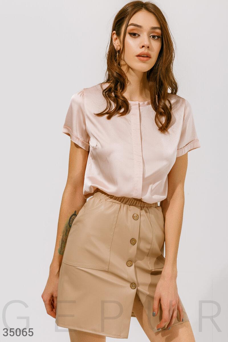 Блуза из струящейся ткани