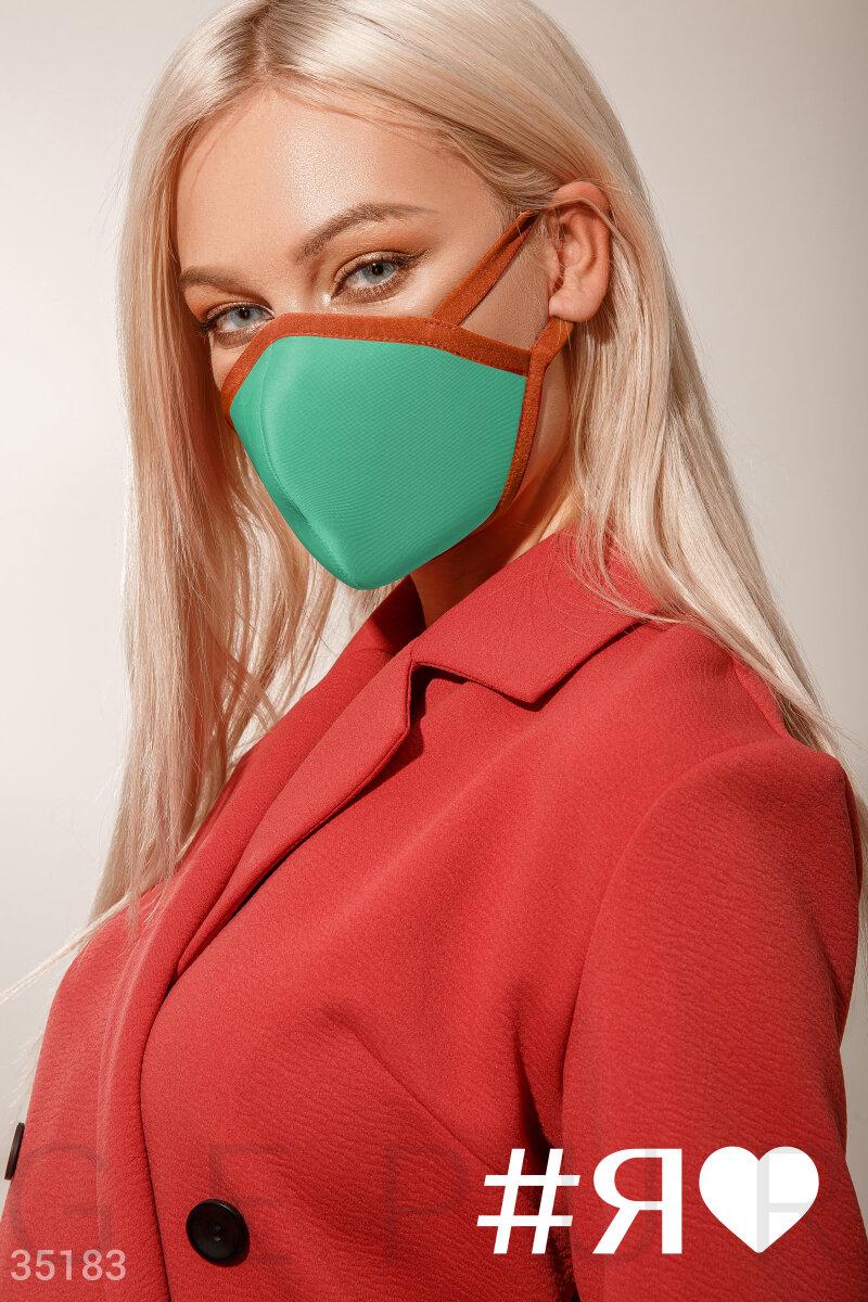 Многоразовая маска бирюзового цвета
