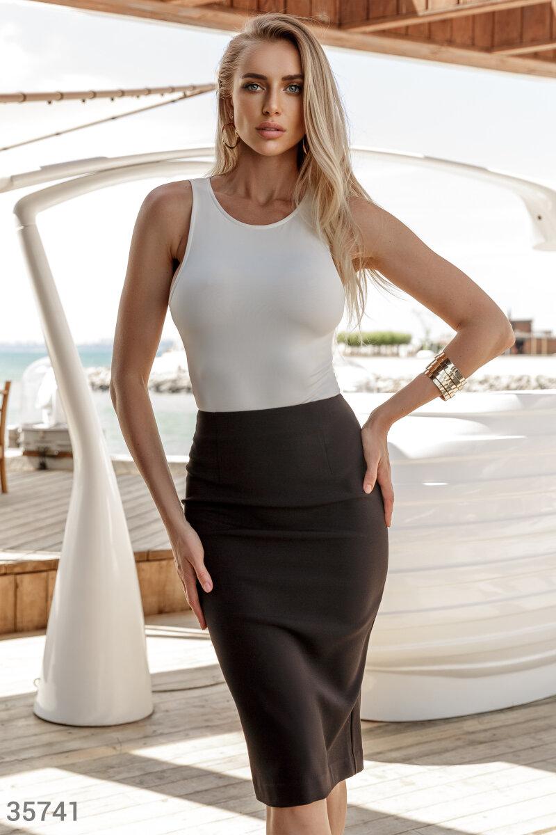 Базовая юбка-карандаш черного цвета