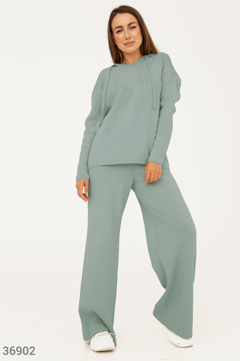 Mint oversized jersey suit Green 36902