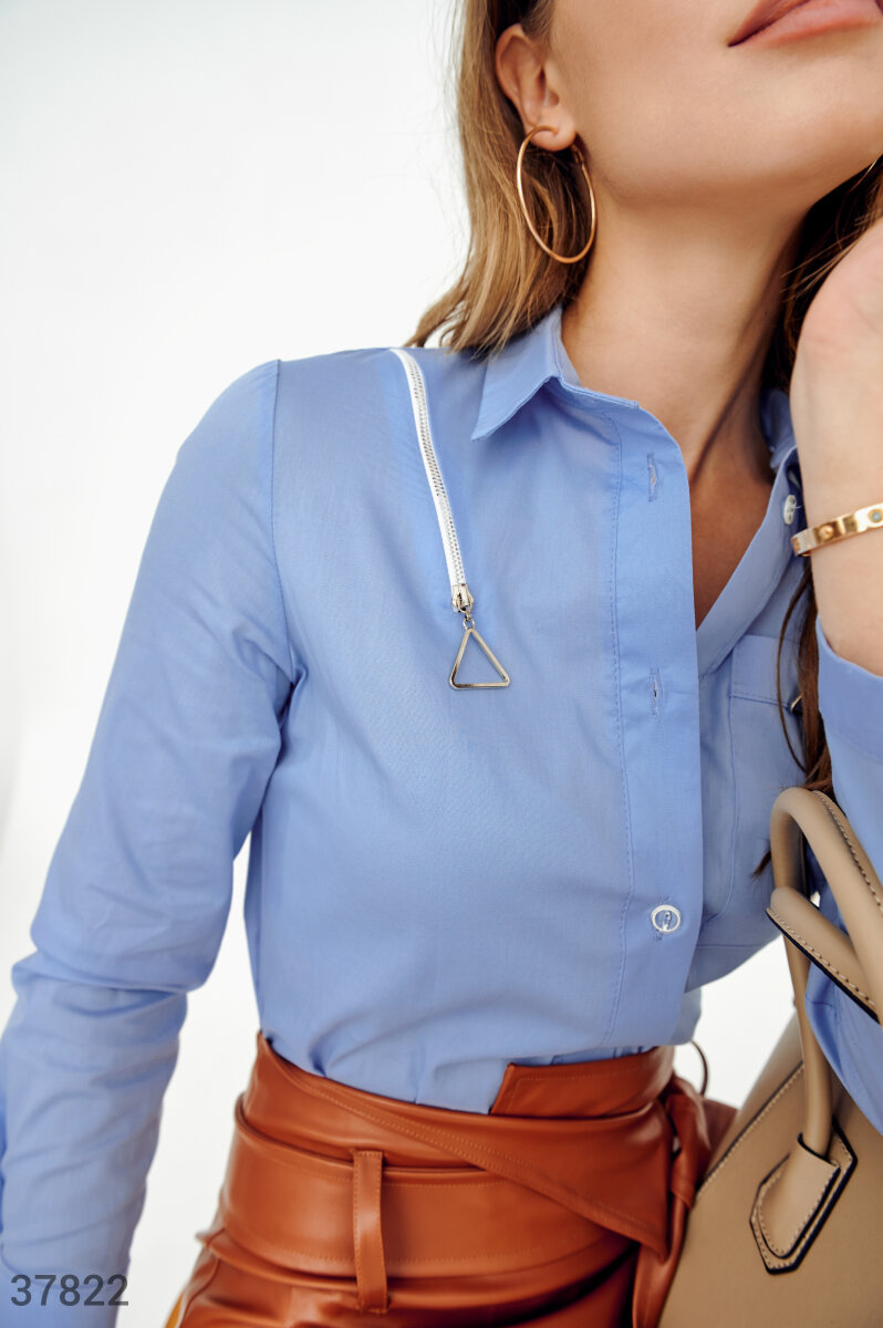Light blue cotton shirt  Blue 37822
