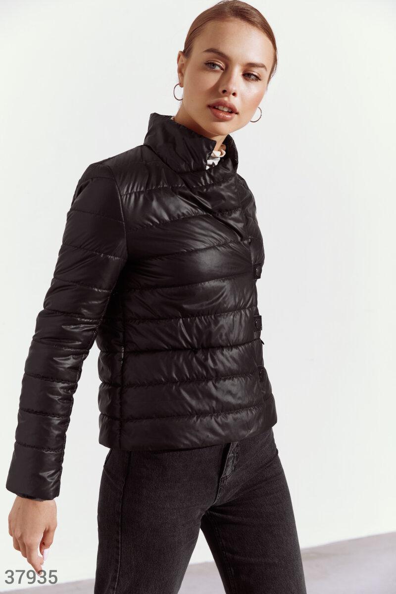 Черная укороченная куртка