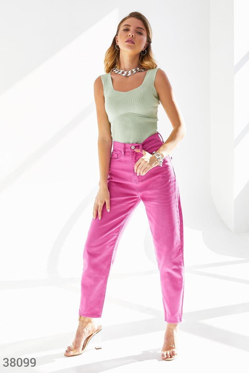 Малиновые джинсы-slouchy