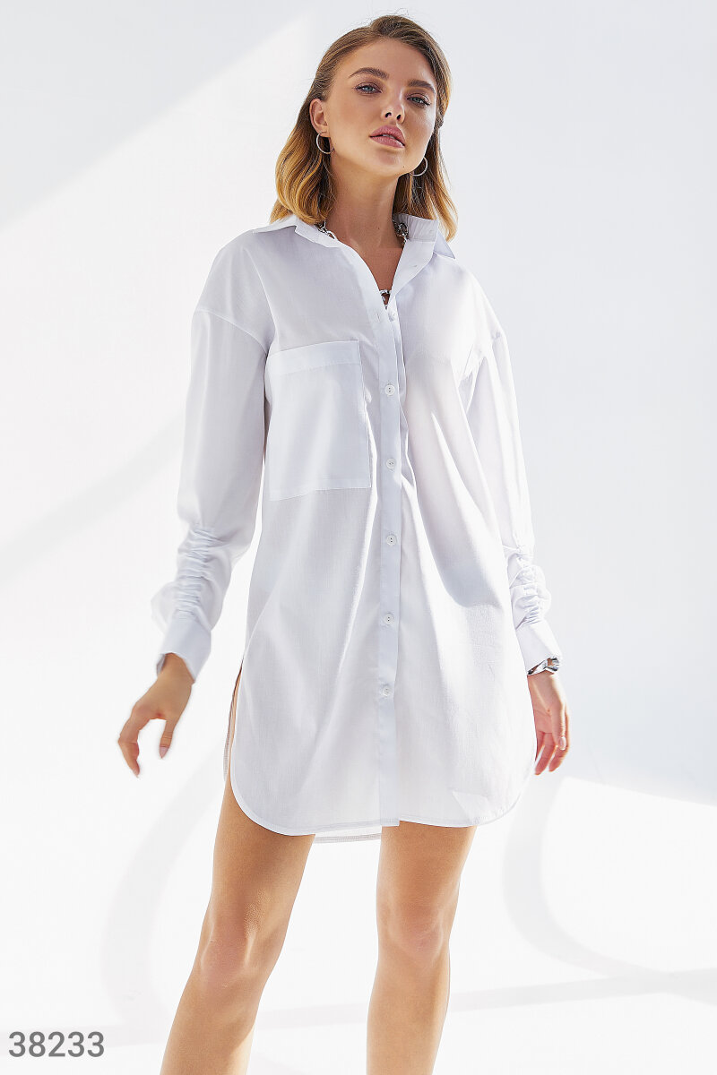 Оригинальная удлиненная рубашка