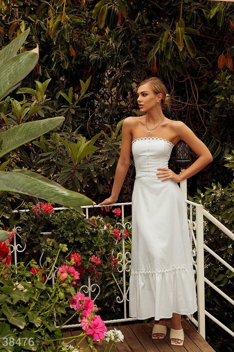 Белое платье-бюстье