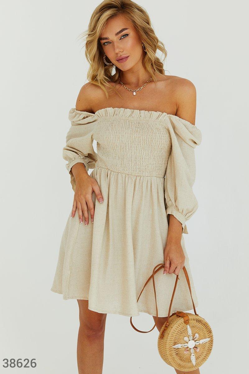Легкое льняное платье