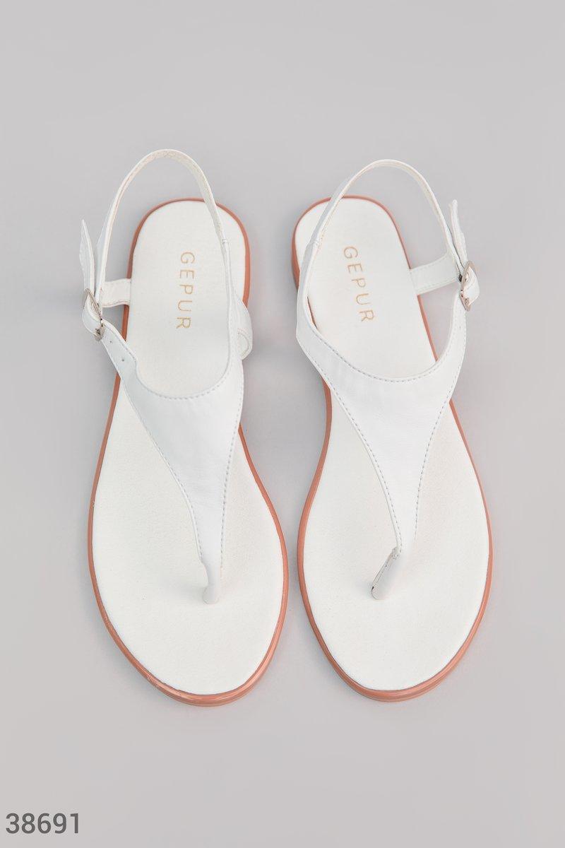 Белые сандалии Gepur из натуральной кожи