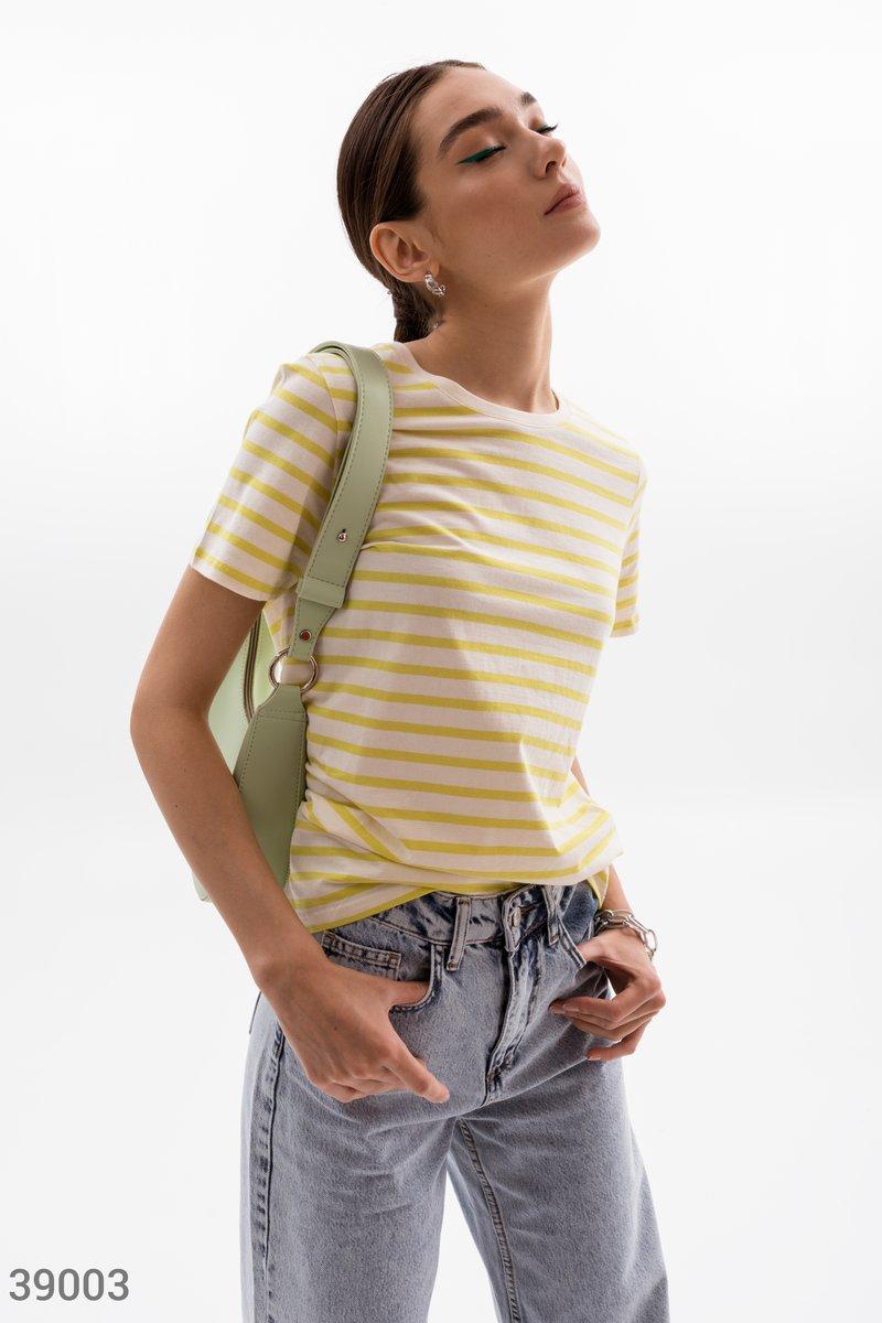 Полосатая футболка из хлопка