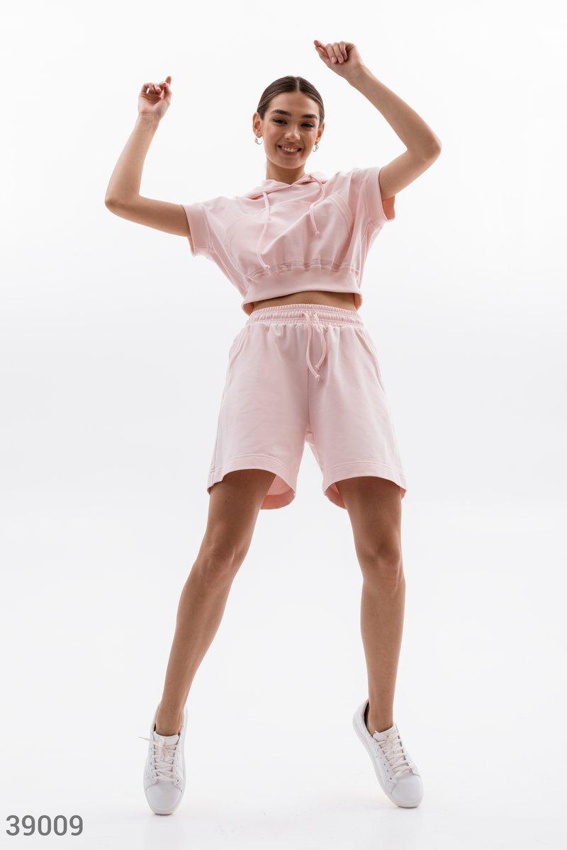Спортивный костюм нежно-розового цвета