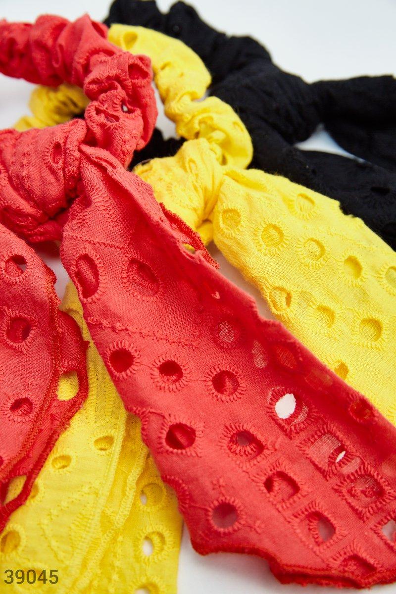 Резинка-платок красного цвета